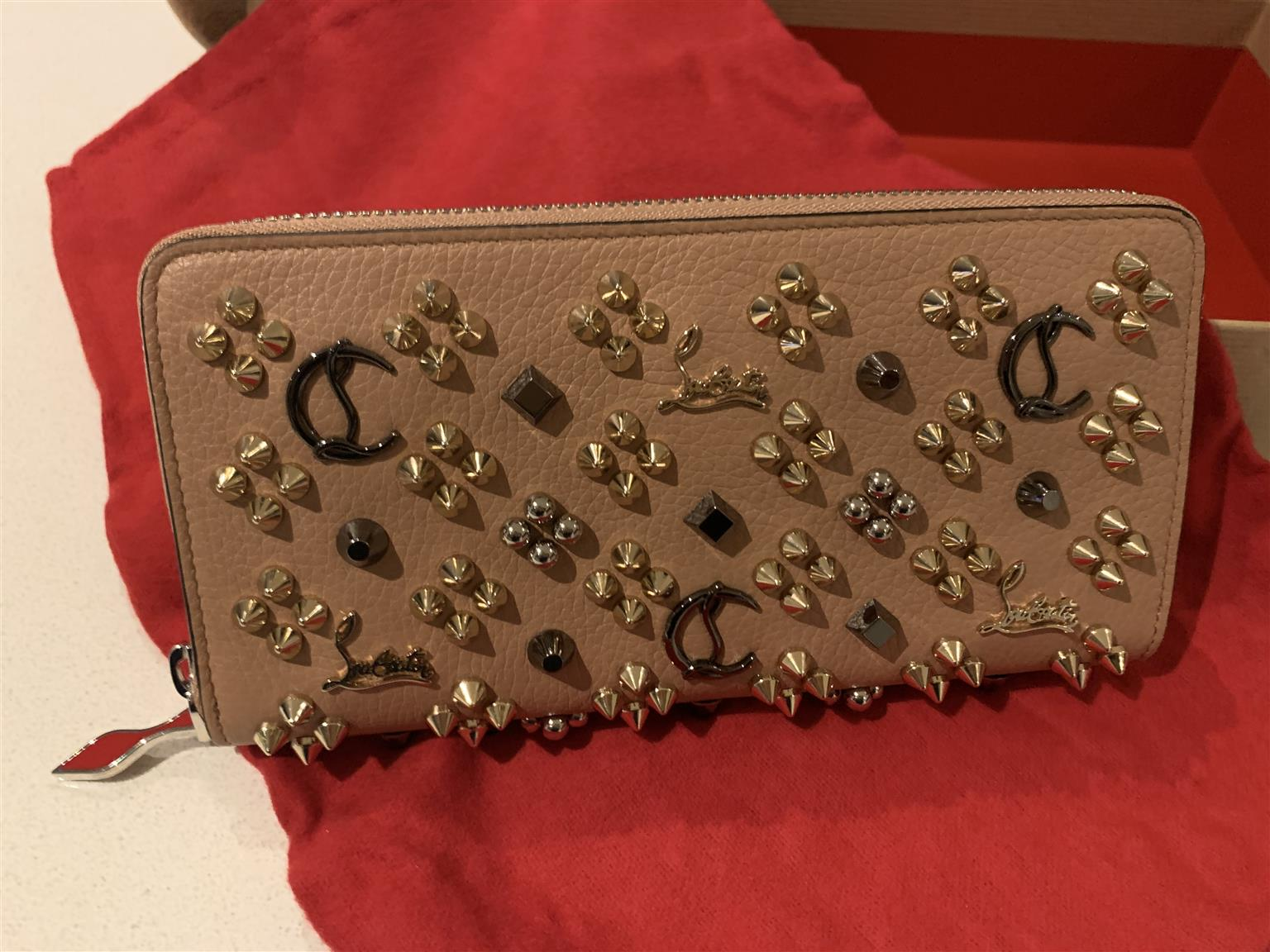 Christian Lauboutin spiked calf wallet - collectors