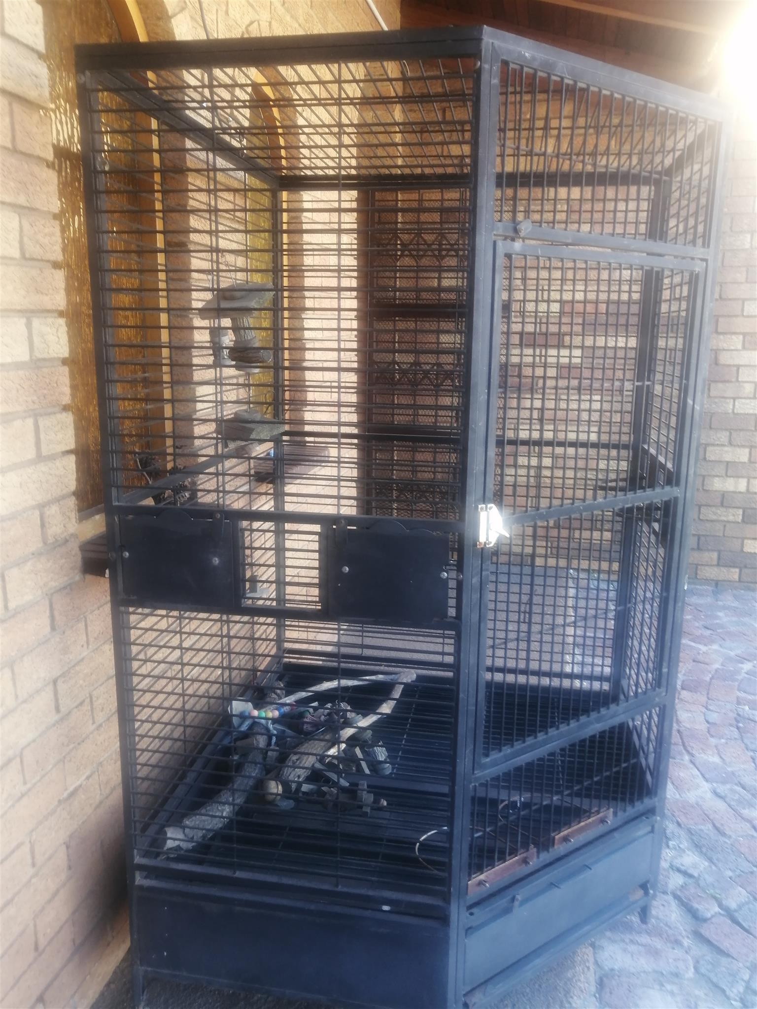 Big bird cage on wheels