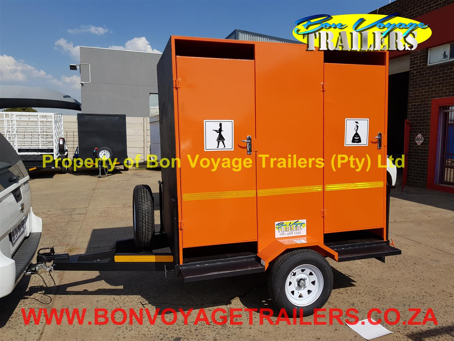 2 Compartment Toilet Trailer For Sale