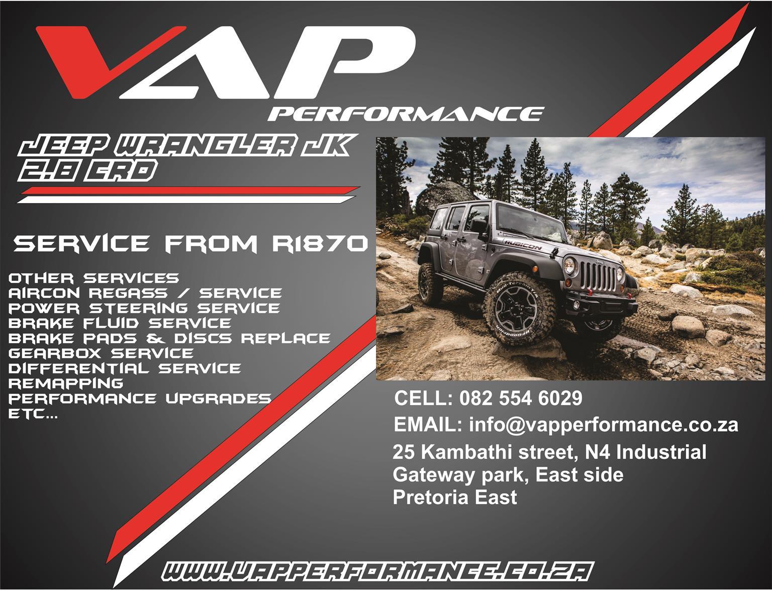 Jeep Wrangler 2.8 CRD Service (Minor & Major)