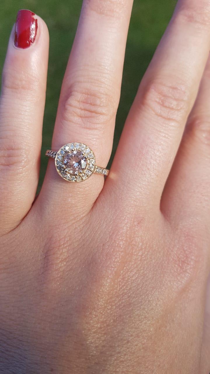 0.82ct Morganite Engagement Ring | Junk Mail