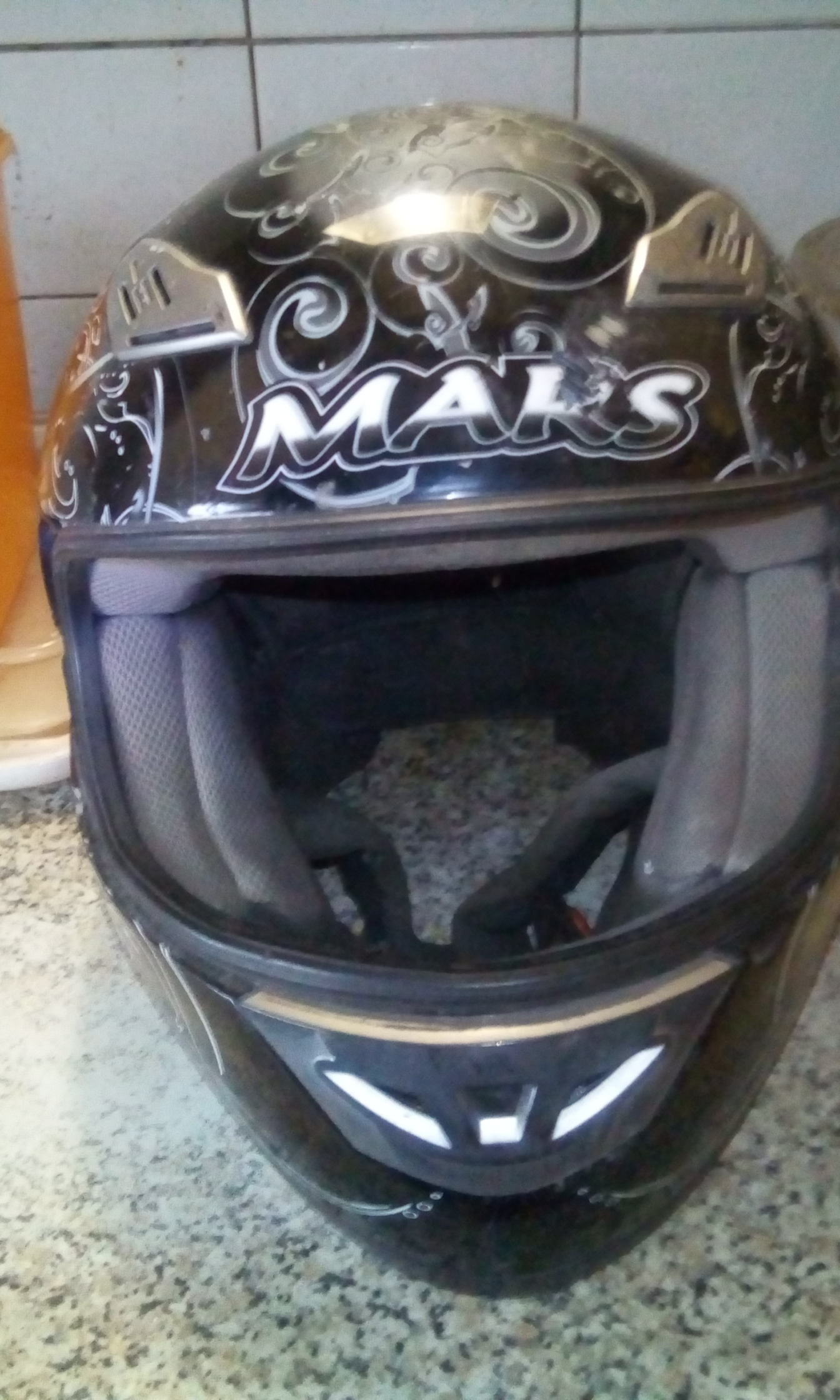 Motor Bike Helmet for sale. Good condition. Bike sold.
