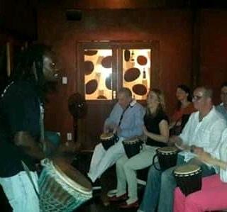 Djembe drumming/ Playing Marimba