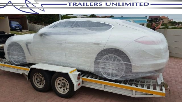 TRAILERS UNLIMITED 5600 X 2100 FLATBED CAR TRAILER.