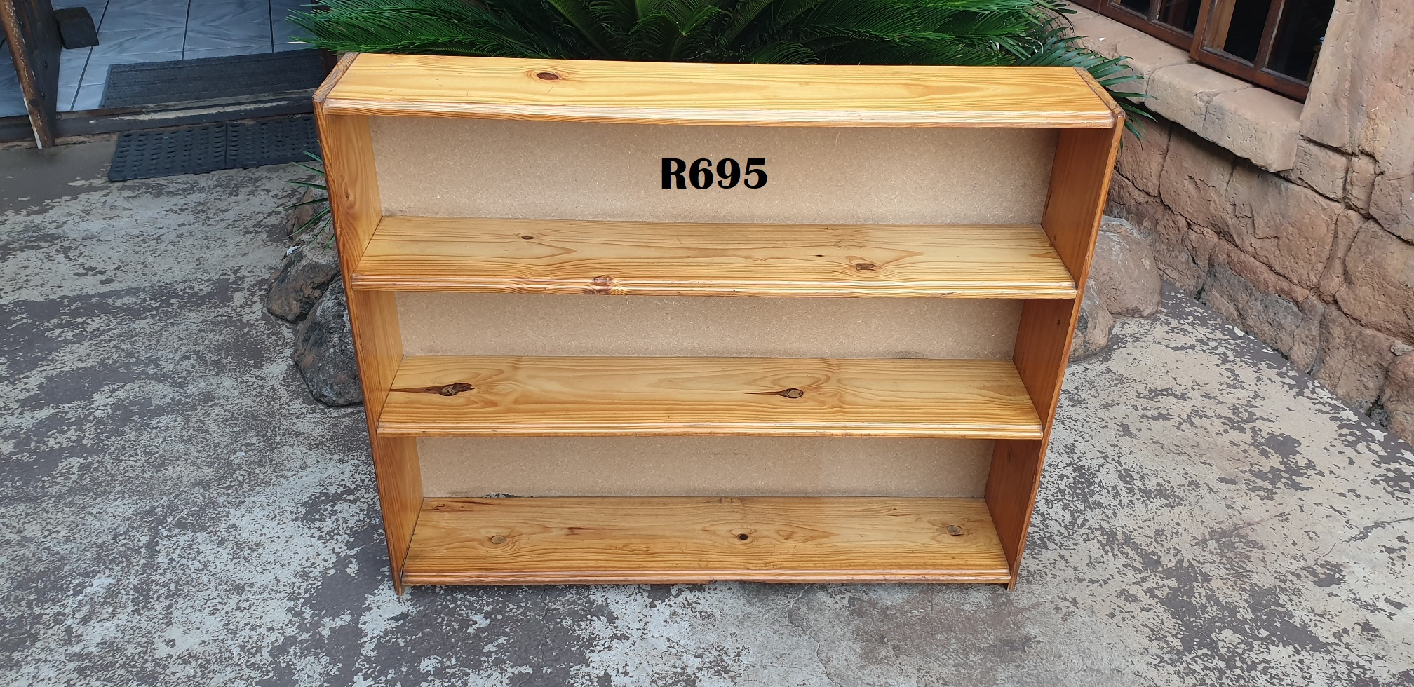 3 Tier Solid Pine Bookrack (1140x215x945)