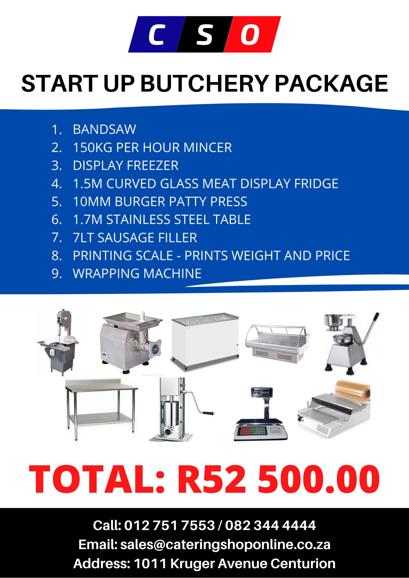 Start up butchery equipment