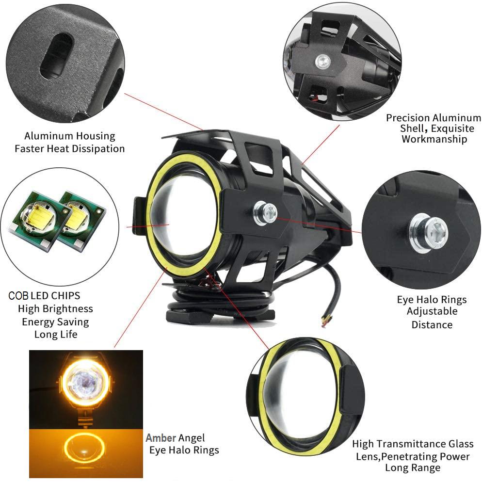 LED Angel Eye Spotlights, Devil Eye Universal Auxiliary Halo Ring Spotlights NEW