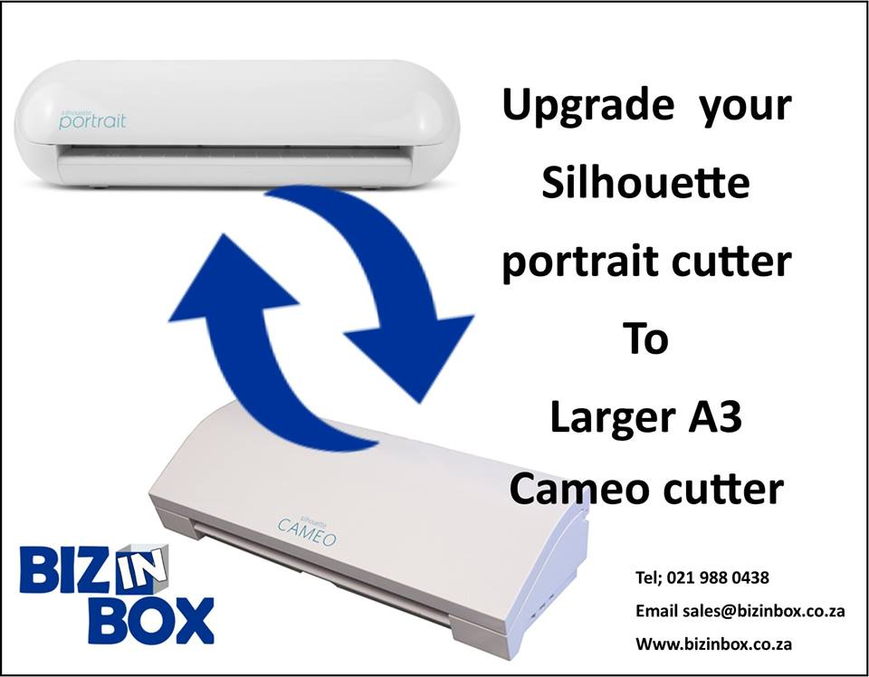 upgrade your Portrait cutter to a larger Cameo cutter