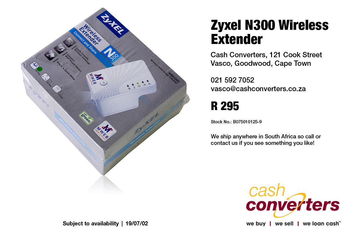 Zyxel N300 Wireless Extender | Junk Mail