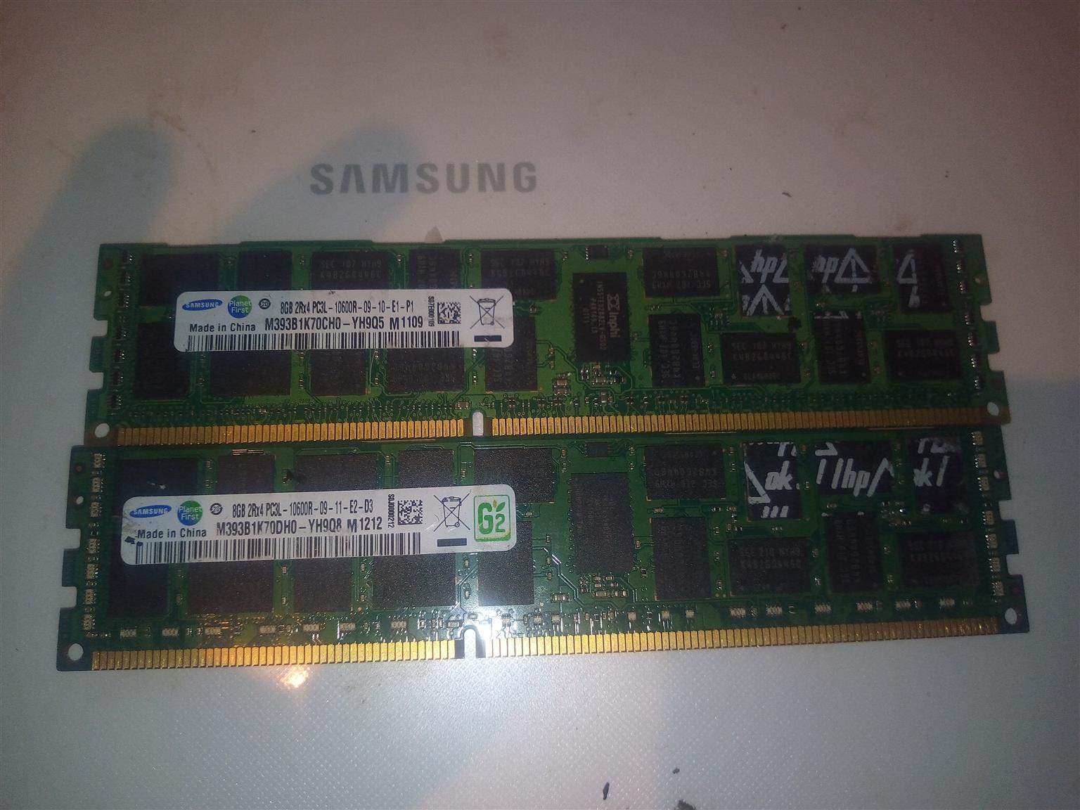 2 8gb ddr3 ecc ram modules for sale
