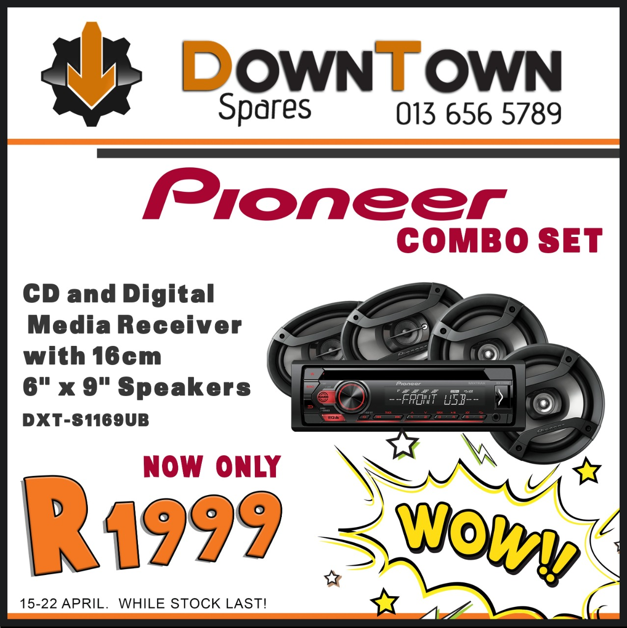 Pioneer Combo Set NOW at Downtown Spares!