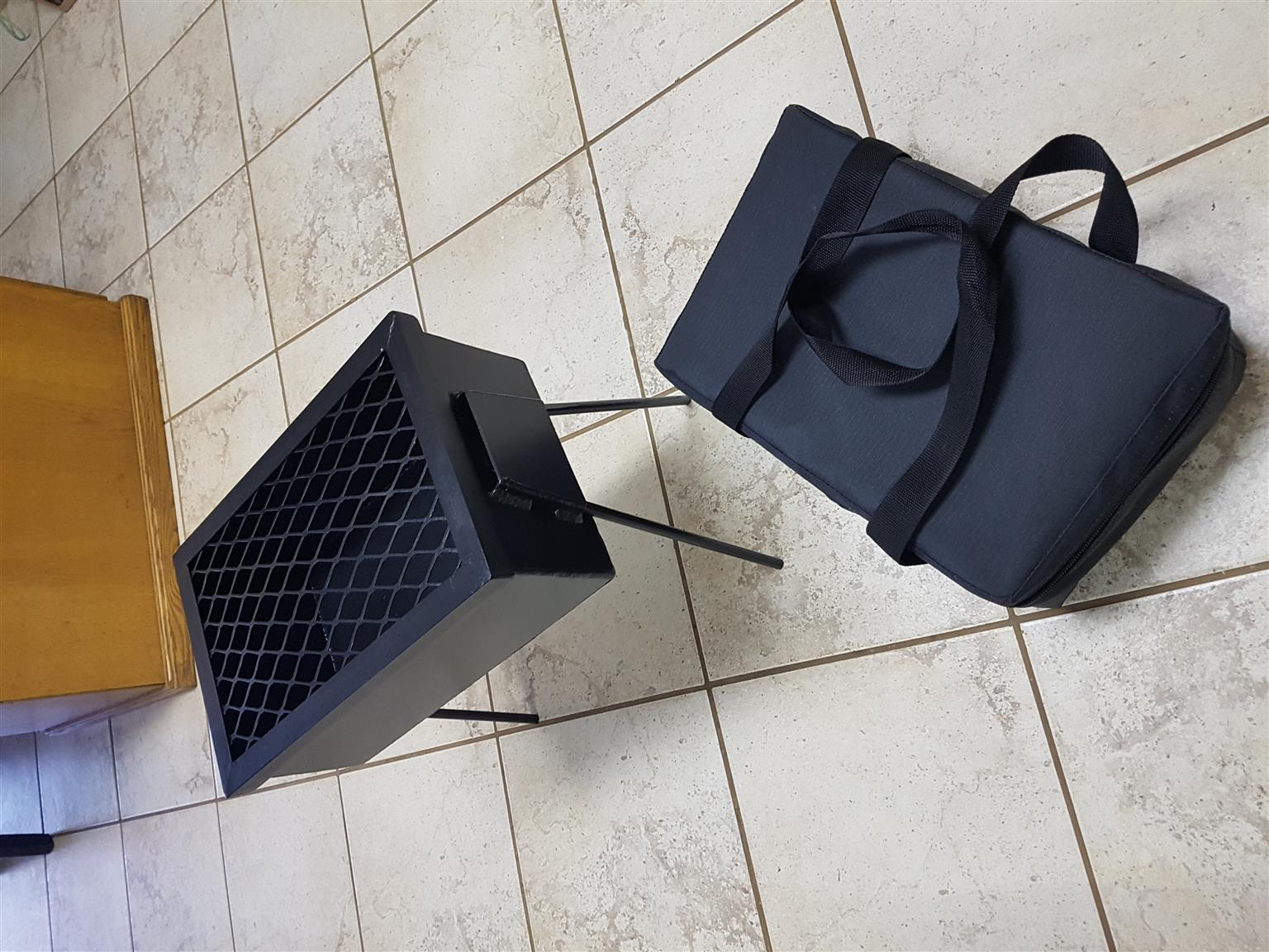 Braai , grid and bag