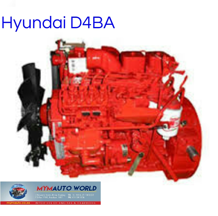 Imported used HYUNDAI H1 2.5L, D4BA NON TURBO, Complete second hand used engine