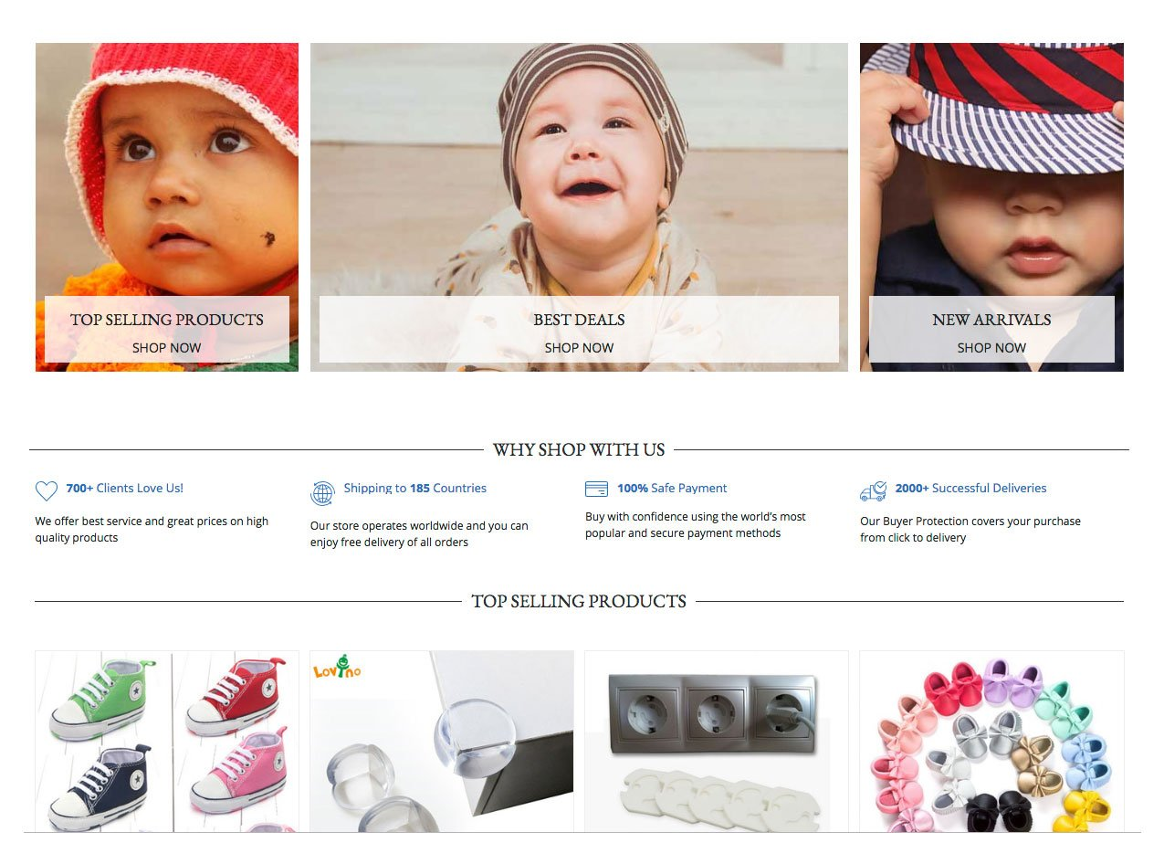 BabyBig Dropshipping Store for Sale