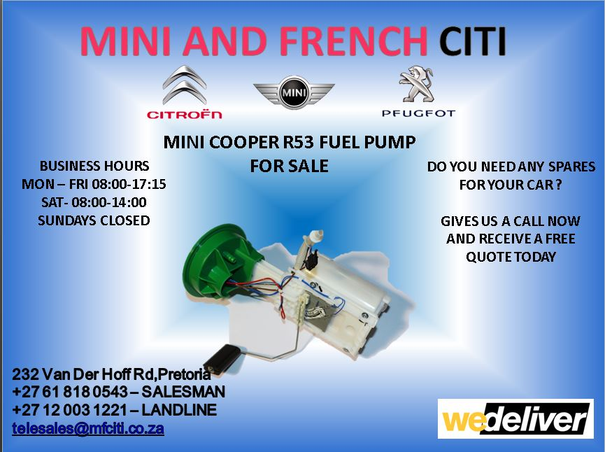 Mini cooper r53 fuel pump for sale   Junk Mail
