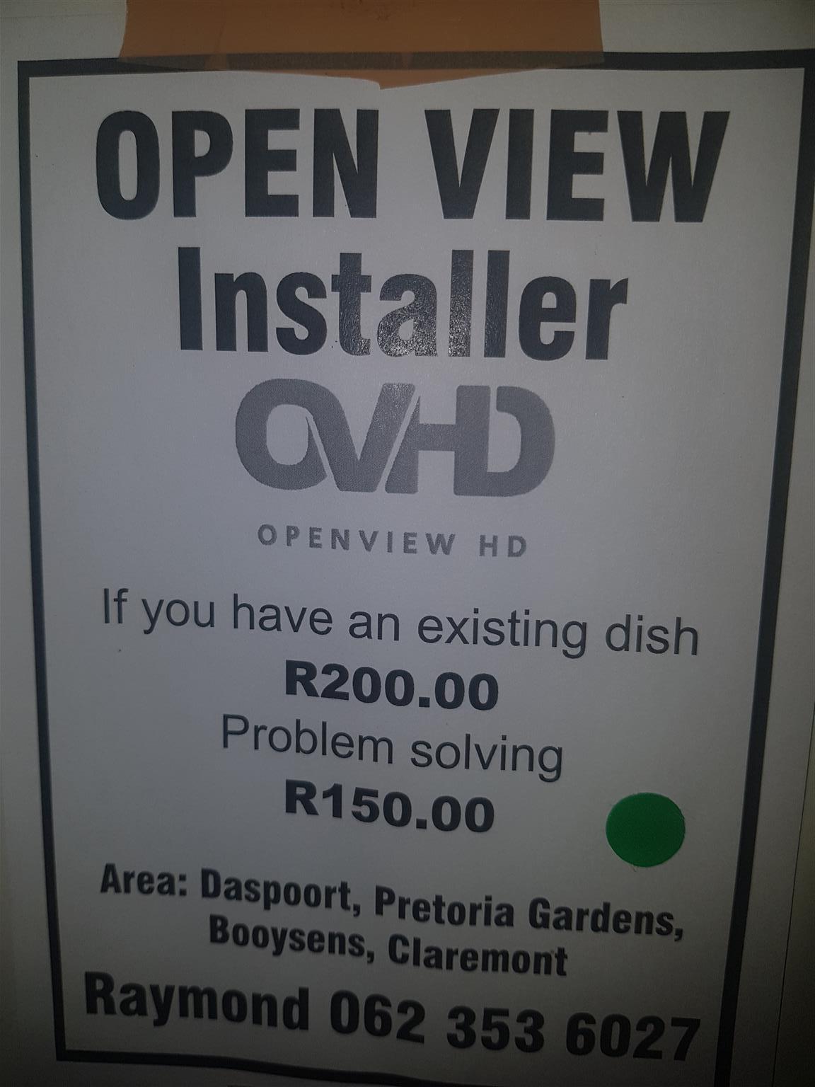 Ek doen open view instelasie goed koop