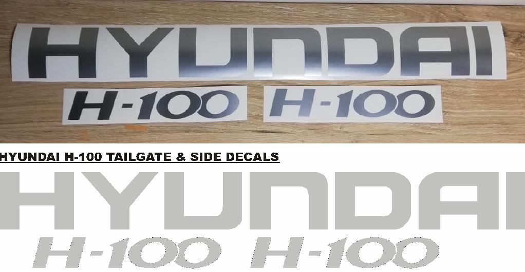 Hyundai H-100 decals stickers / vinyl cut graphics kit
