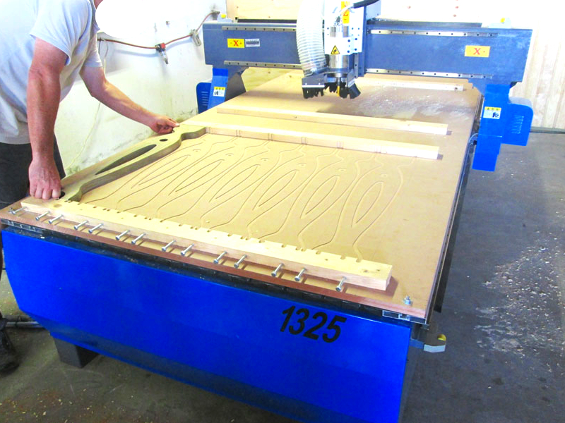 R-2030LC/55 EasyRoute 380V Lite 2050x3050mm Aluminium T-Slot Clamping CNC Router, 5.5kW