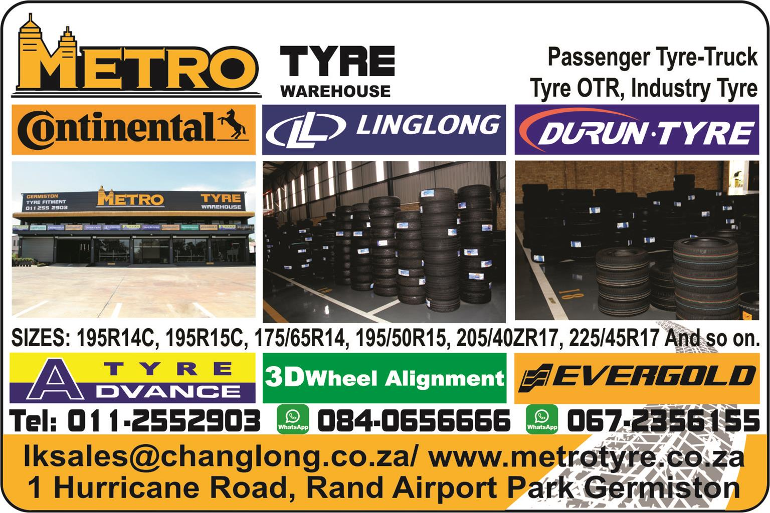 METRO TYRE WAREHOUSE