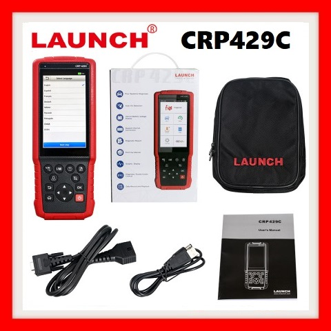 Car tool: LAUNCH X431 CRP 429C OBD2 Code Reader Test Engine/ABS/Airbag/AT +11 Reset Function Powerful than CRP129