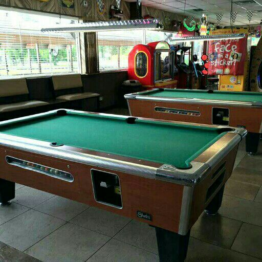 pooltables and jukeboxes