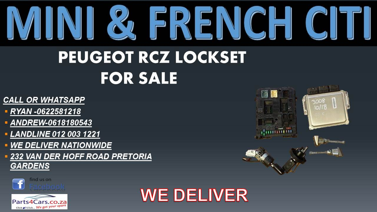 PEUGEOT RCZ  LOCKSET FOR SALE