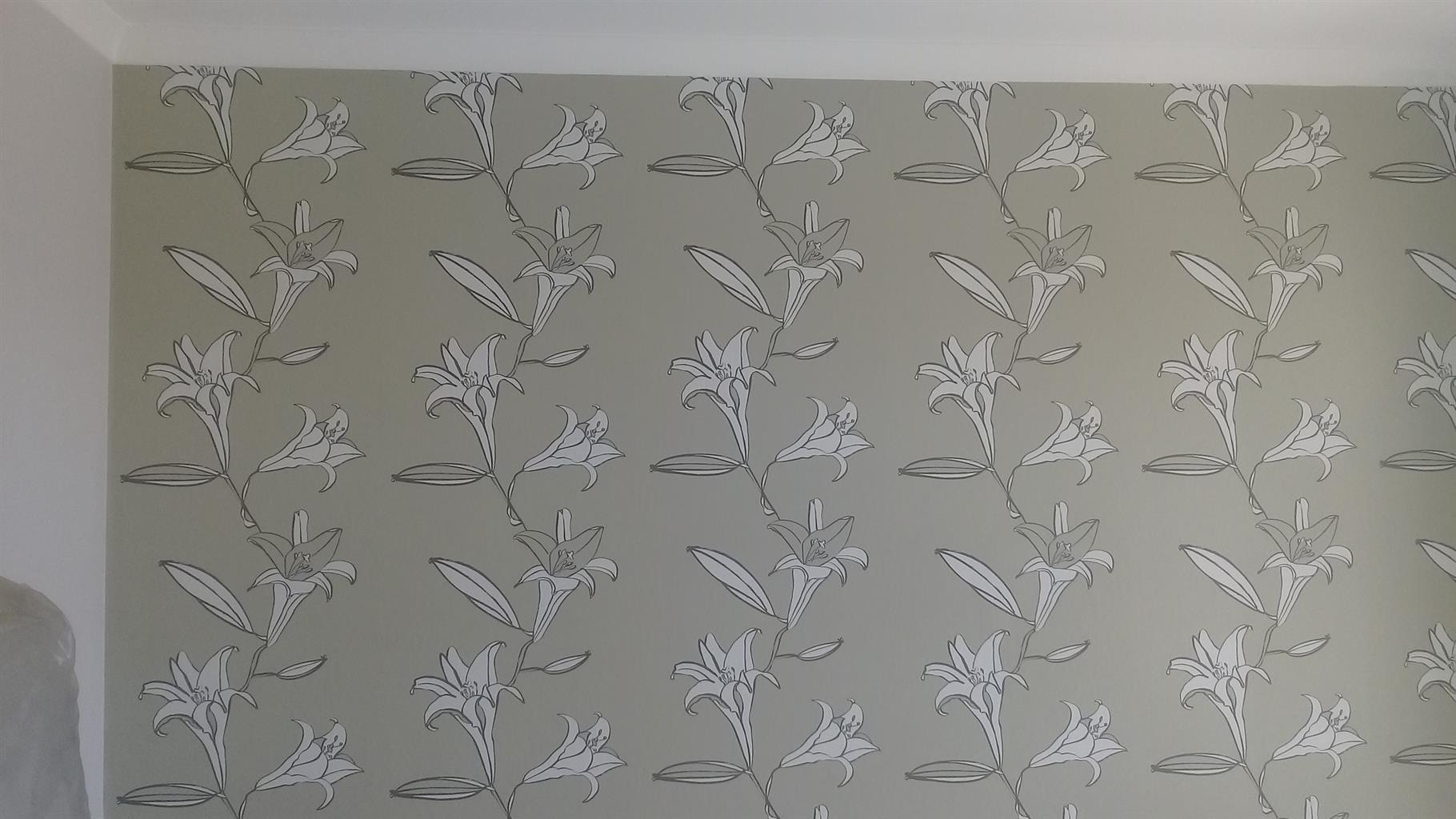 Wallpaper, Curtains & Blinds installation.