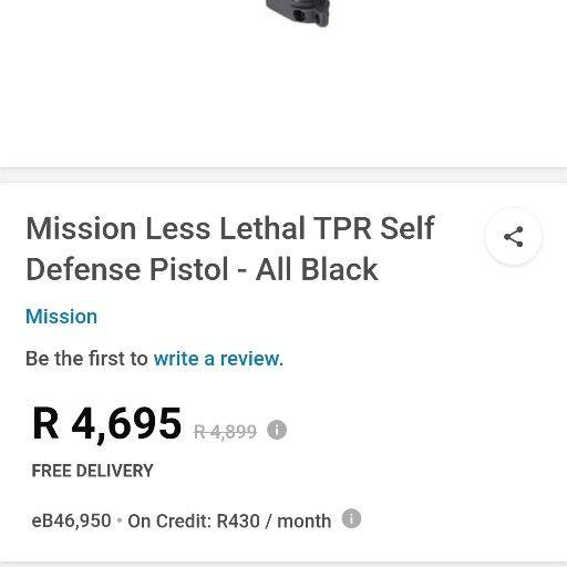 mission less lethal TPR self defense pistol