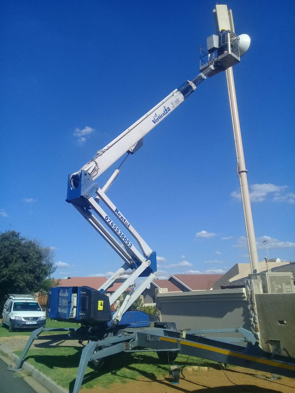 VerticalZA CHERRY PICKER Dino 260XT -  26m Portable Trailer Mounted ELECTRICAL Manlift