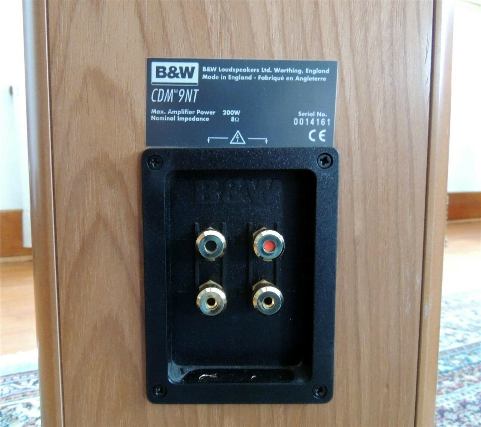 Bowers and Wilkins B&W CDM 9NT Floorstanding Speakers