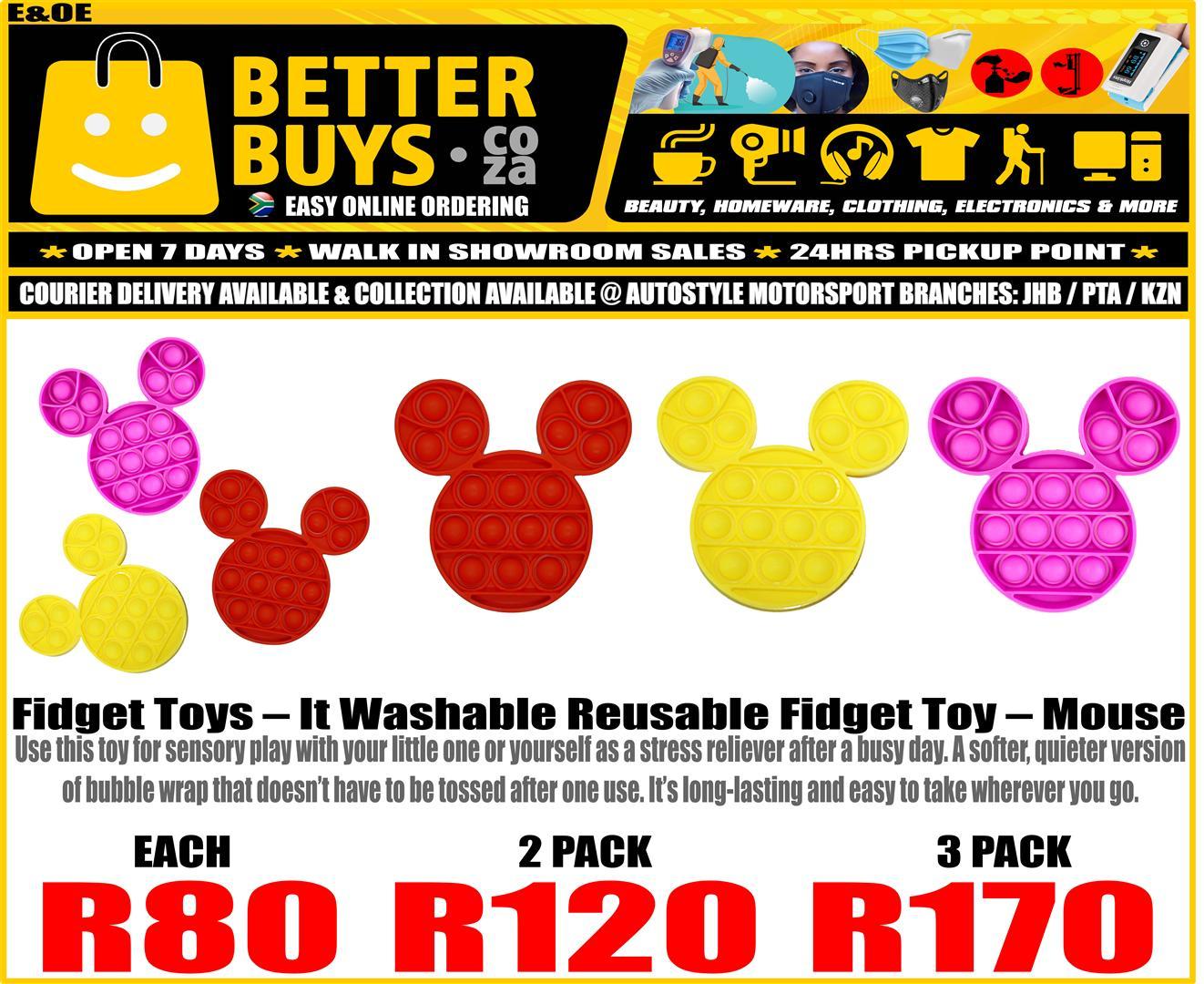 Fidget Toys – Pop It Washable Reusable Fidget Toy – Square