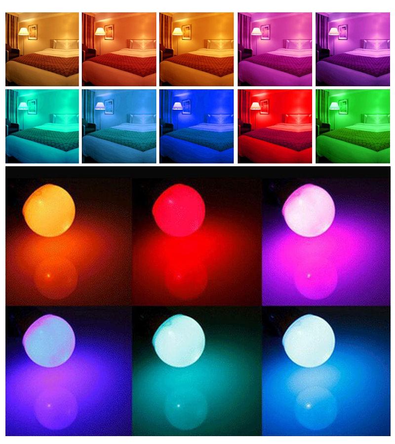 LED Light Bulbs: Colour Changing LED RGB Light Bulb with Wireless IR Remote Control