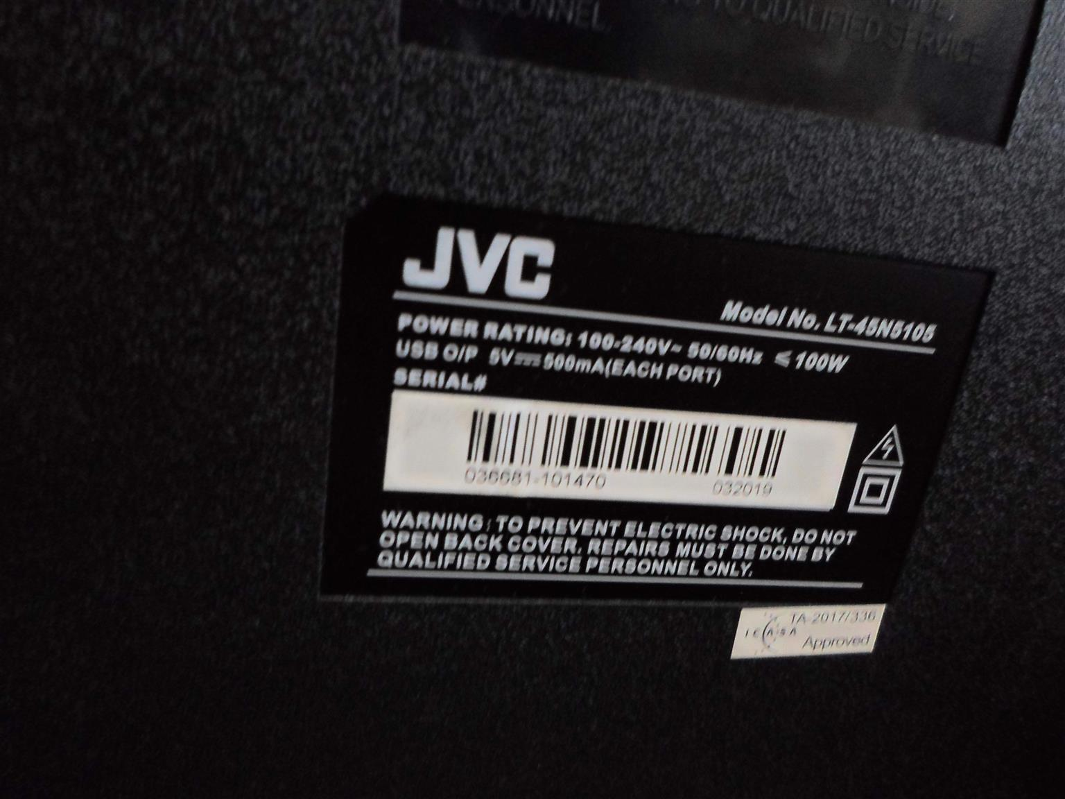 "45"" JVC TV"