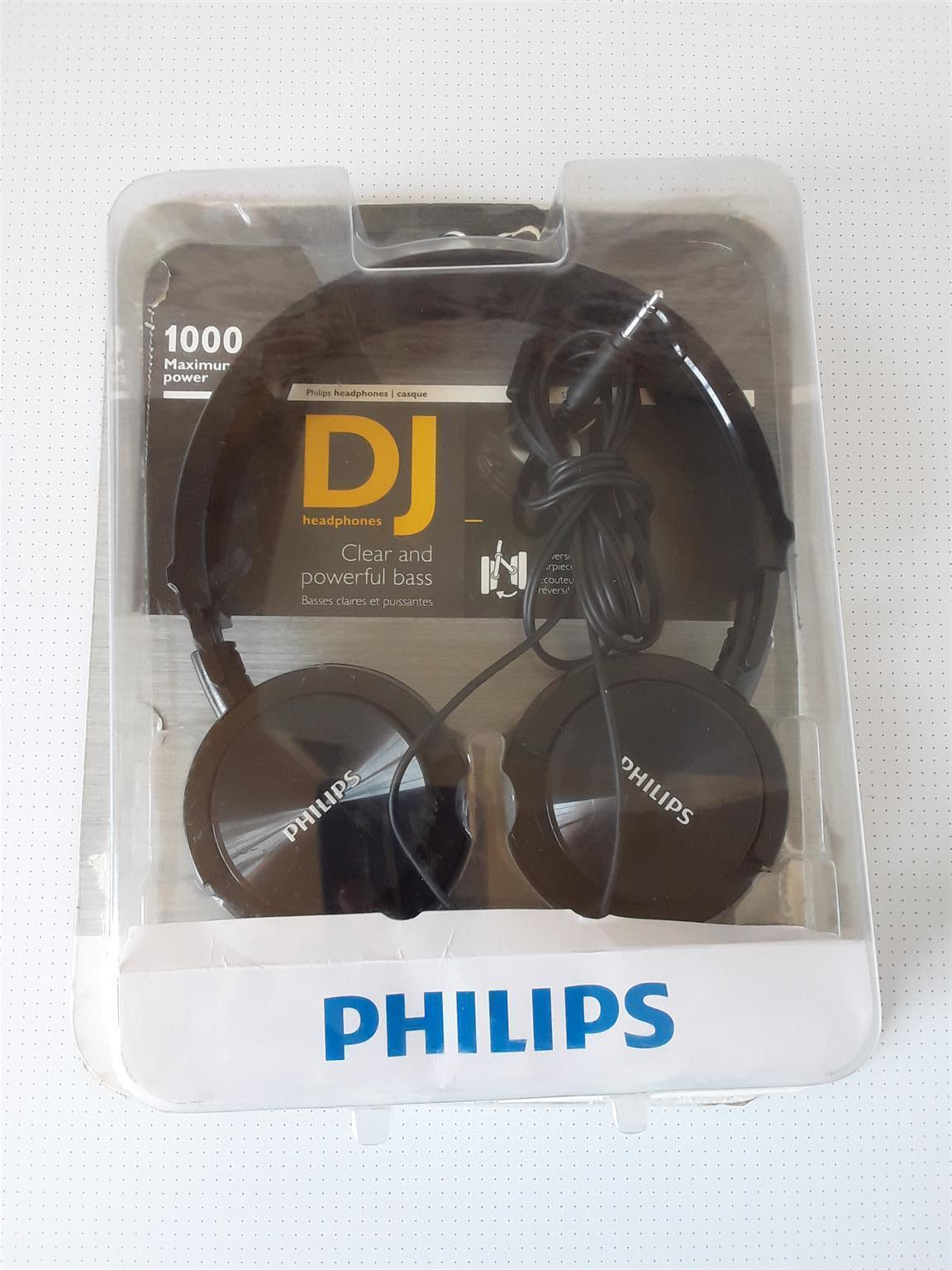 DJ Headphones Phillips Mahimum Power 1000mW. Brand new in a box. I am in Orange Grove.