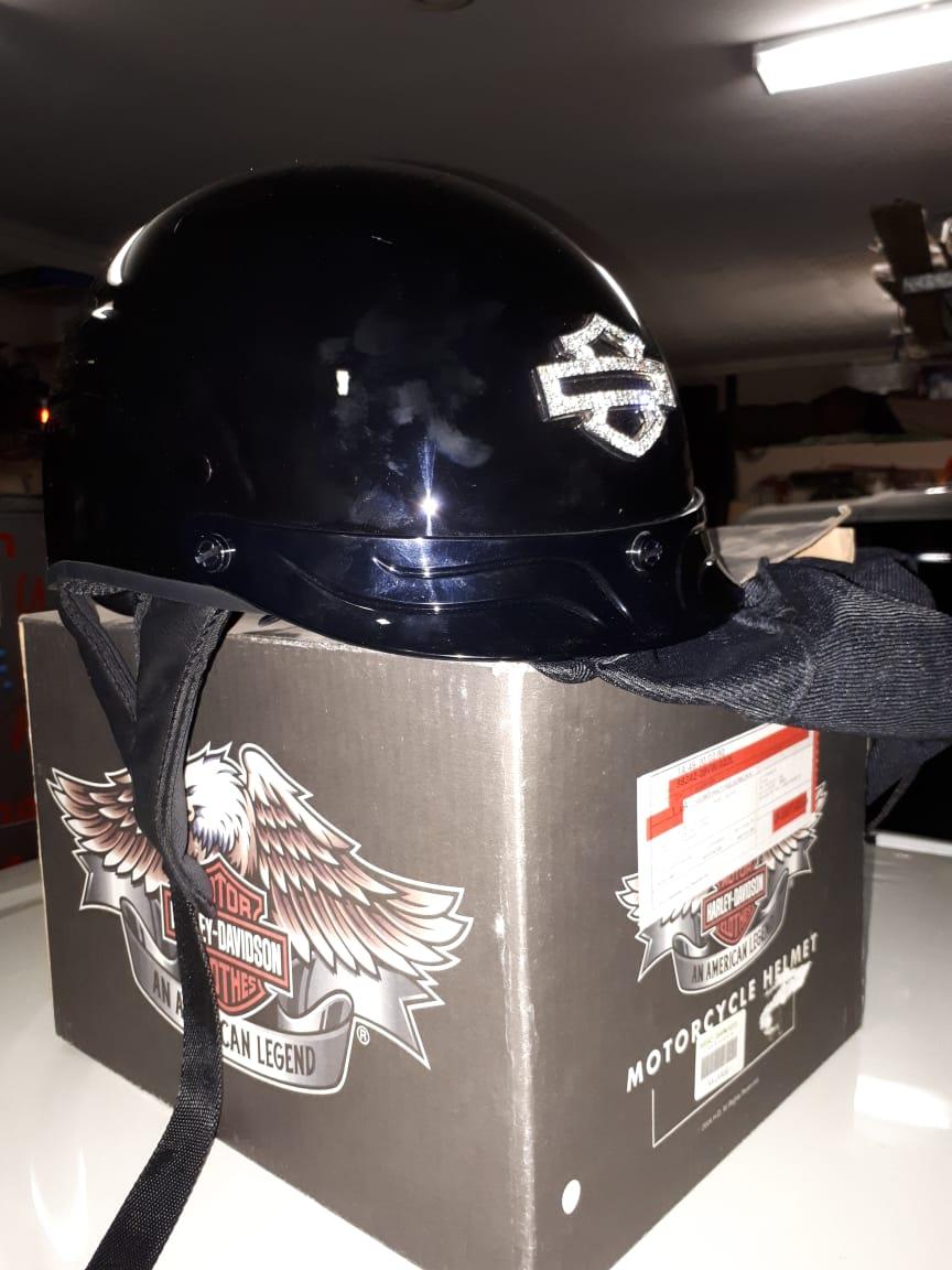 Harley Ladies Black Open Face Helmet for Sale.