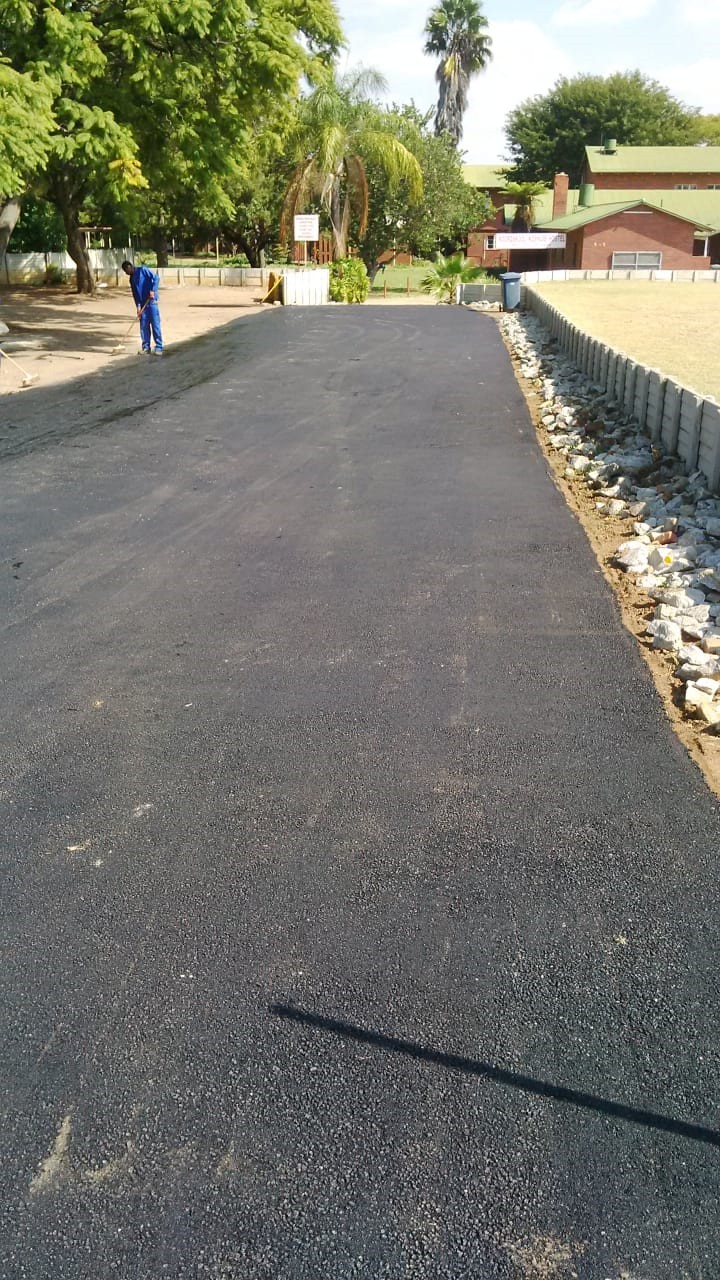 Sports grounds and tar surfacing