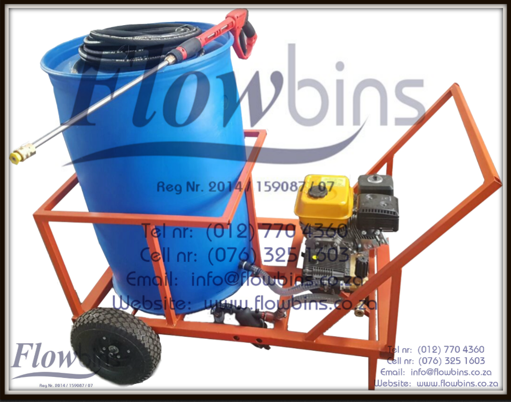 NEW 1000- 2500Lt 178 Bar Mobile Pressure Washer Unit from R 14 900