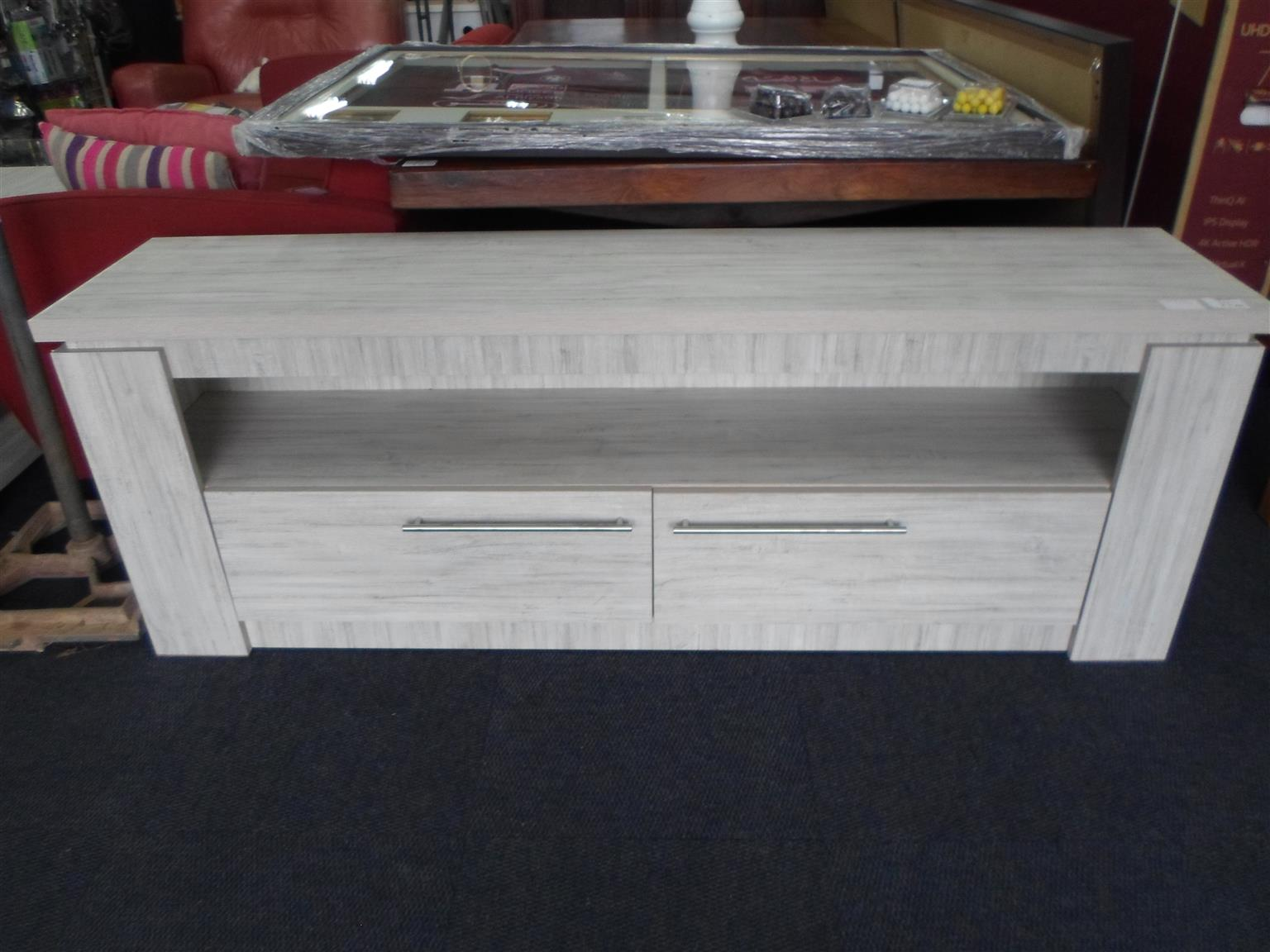 Wooden 2 Drawer Plasma Stand