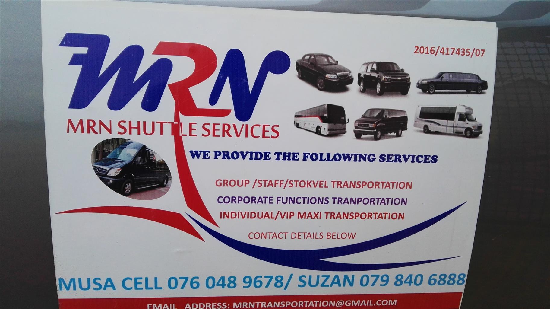 24/7 Transport around Gauteng