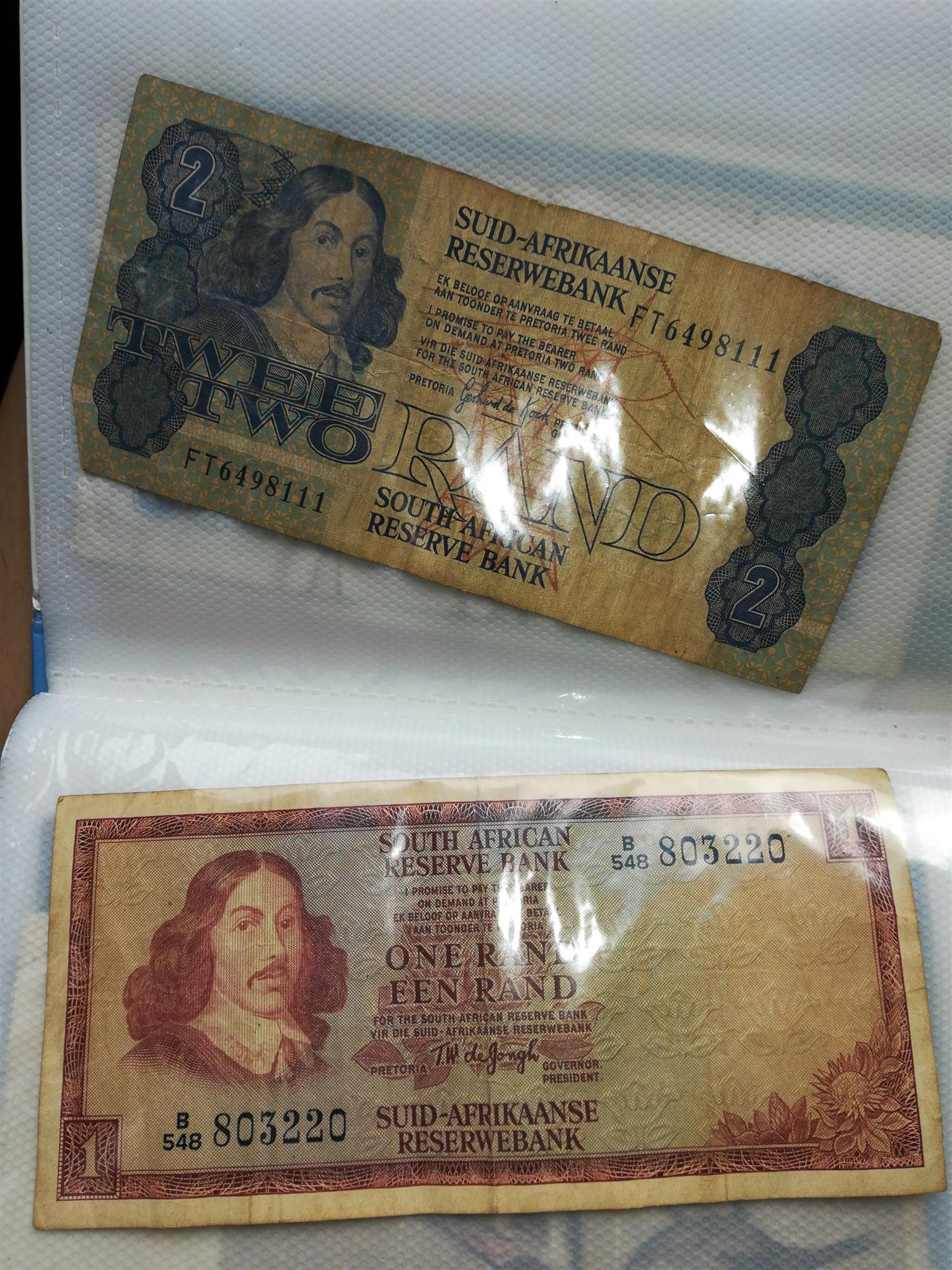 Old sa bank notes