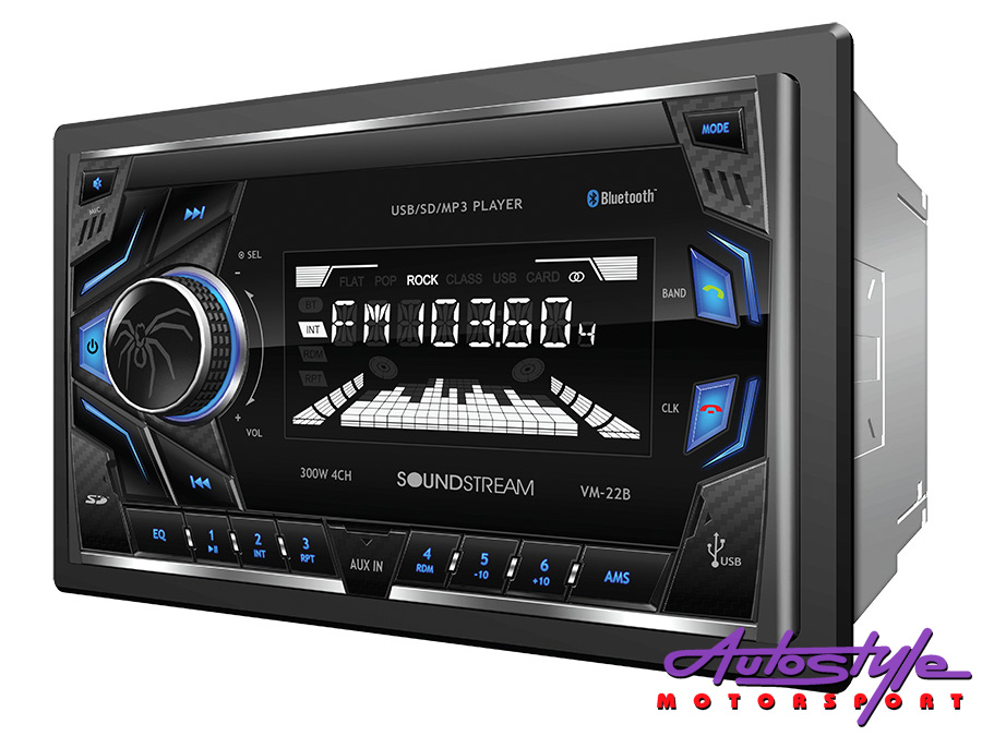 Soundstream VM-22B Double Din Media Player with bluetooth