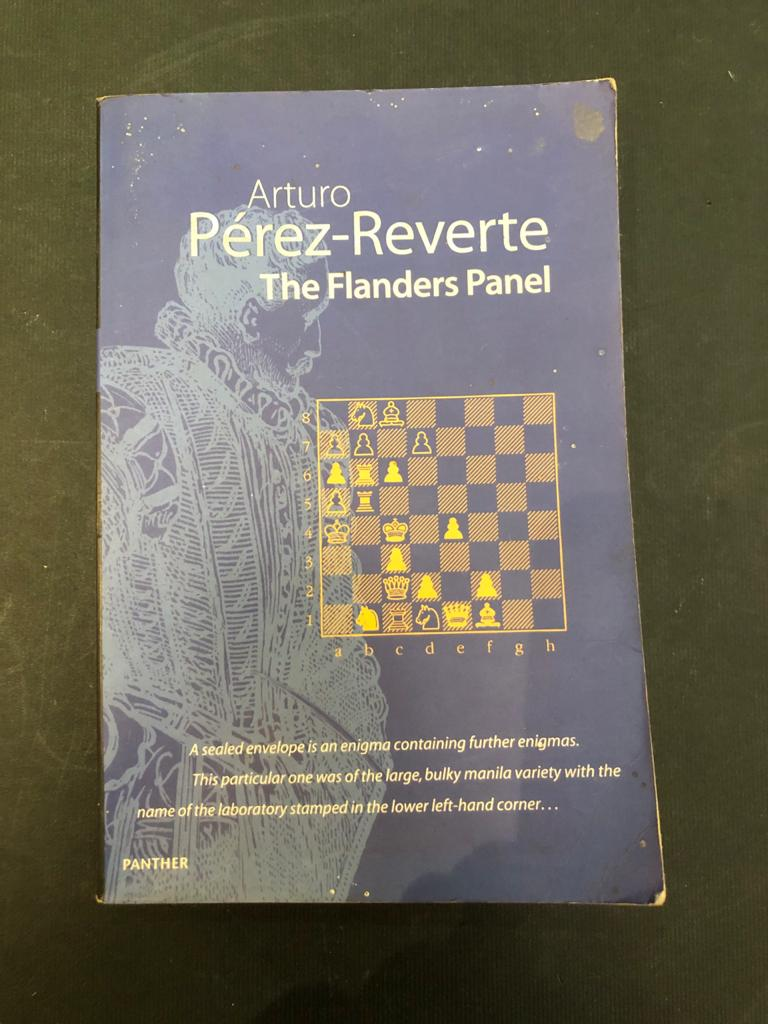 The Flanders Panel Paperback by Arturo Perez-Reverte - historical murder mystery