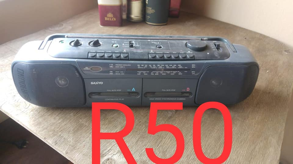 Old Sanyo tape player