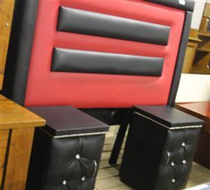 Headboard & Pedestals S029096C #Rosettenvillepawnshop