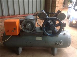 Three phase industrial compressor