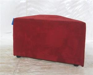 Red fabric ottoman