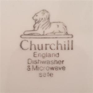 Vintage Churchill Porcelain Dinner Set