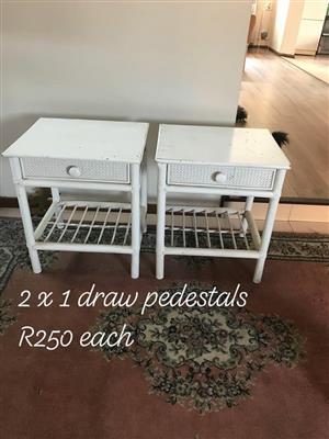 White drawer pedestals for sale