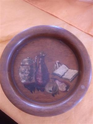 Brown wall decor plate for sale
