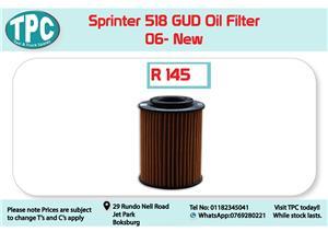 Mercedes Benz Sprinter 518 GUD Oil Filter -06 for Sale at TPC